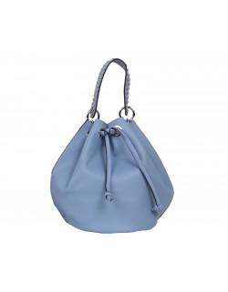 Uroczy worek torebka z ćwiekami na rączce