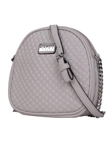 Mała pikowana torebka o owalnym kształcie