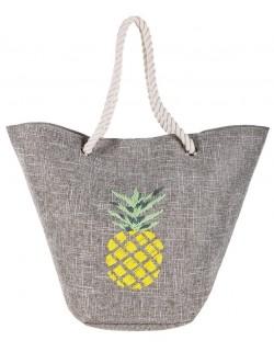 Kosz plażowy wielka shoperka letnia torba z ananasem