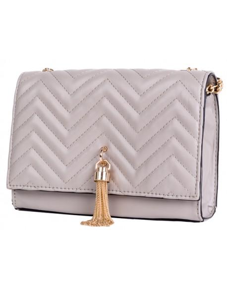 Elegancka pikowana torebka z łańcuszkiem