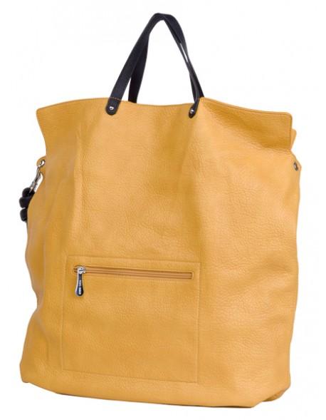 Duża torba jednokomorowa typu worek z dopinanym paskiem