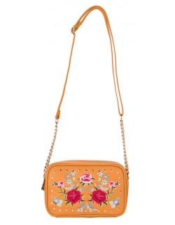 Uroczy kuferek z kwiatowym haftem