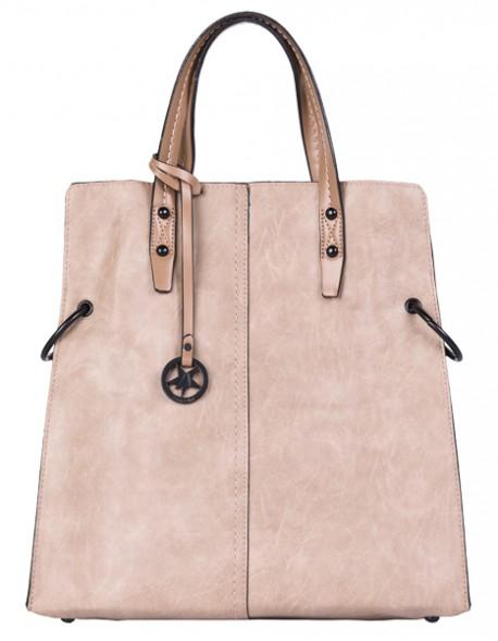 Elegancka torba miejska z paskiem folk