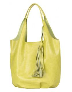 Duża torebka damska typu shoperbag z zawieszką