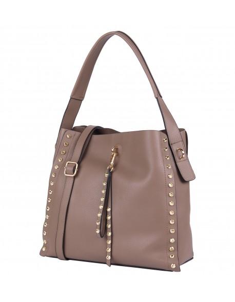 Torebka damska VIVI klasyczna torba Shopper z ćwiekami