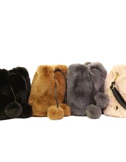 "Torebka plecak 2w1 Vivi Paris ze sztucznego futra ""faux fur"""