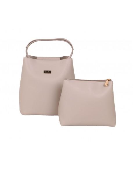 Elegancka torebka damska kuferek 2w1 z suwakami po bokach