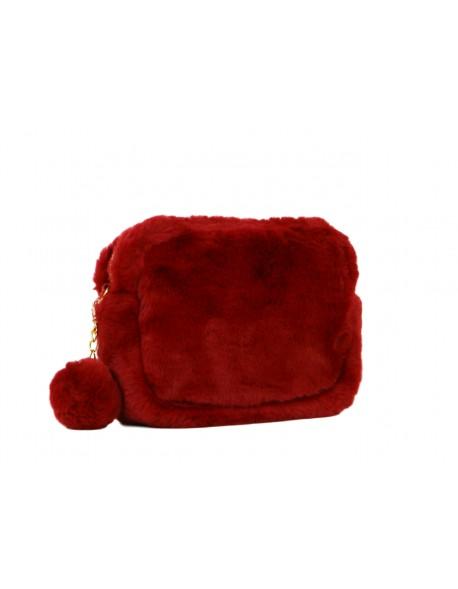 Torebka damska Vivi Paris mini listonoszka faux fur sztuczne futro