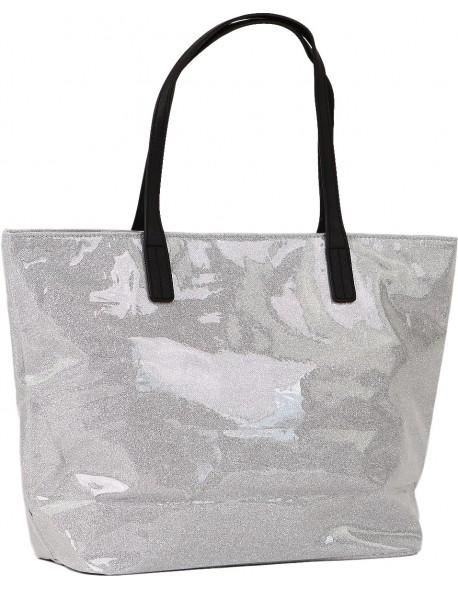 Transparentna torebka shoperka koszyk duża