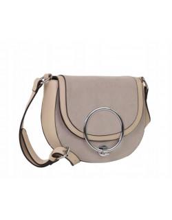 Kuferek z zamszową klapą, mała torebka listonoszka