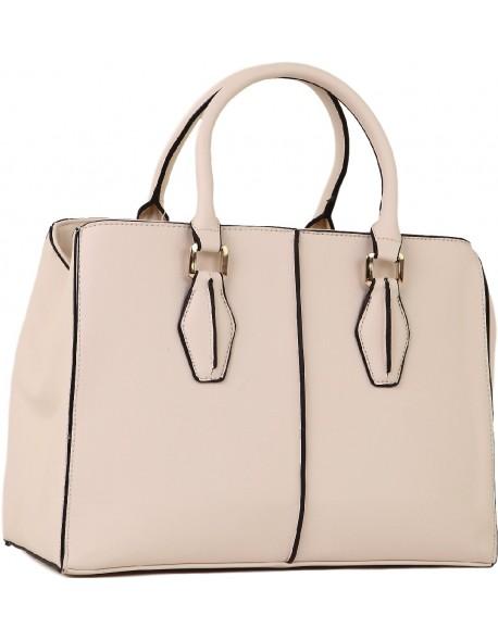 Elegancki kuferek z paskiem klasyczna torebka